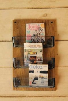 how to make miniature magazine holder from pieces of plastic from razor blades - in Finnish with illustrated steps