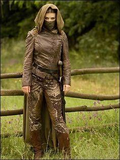 Lucy Griffiths as The Night Watchman/Maid Marian (BBC Robin Hood series) Guy Of Gisborne, V Drama, Assassin Costume, Robin Hood Bbc, Little Dorrit, Fantasy Costumes, Larp Costumes, Pirate Costumes, Historical Clothing