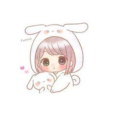 Cute Anime Chibi, Kawaii Chibi, Cute Anime Pics, Anime Girl Cute, Kawaii Anime Girl, Cute Cartoon Girl, Cute Animal Drawings Kawaii, Cute Little Drawings, Cute Easy Drawings