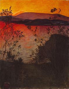 Evening Glow by Harald Oskar Sohlberg Handmade oil painting reproduction on canvas for sale,We can offer Framed art,Wall Art,Gallery Wrap and Stretched Canvas,Choose from multiple sizes and frames at discount price. Nocturne, Landscape Art, Landscape Paintings, Canvas Paintings, Google Art Project, Photo D Art, Oil Painting Reproductions, Hanging Pictures, Art Google