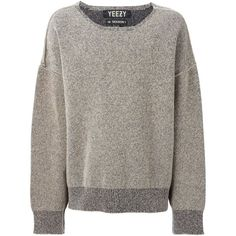 Yeezy Adidas Originals by Kanye West oversize sweater (19.805 NOK) ❤ liked on Polyvore featuring tops, sweaters, jumpers, shirts, sleeve shirt, shirt tops, brown tops, oversized shirt and over sized shirts