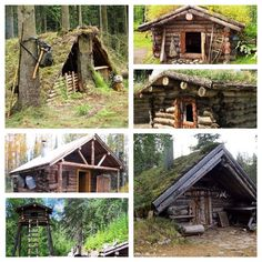 Viking style Burdei homes and Pioneer style Cabins for long-term survival. ⛺️…
