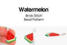 Watermelon Bead Pattern Brick Stitch Bead Weaving by BeadCrumbs