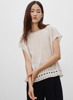 WILFRED REIMS BLOUSE - <p>Delicately embroidered for that added dose of femininity</p>