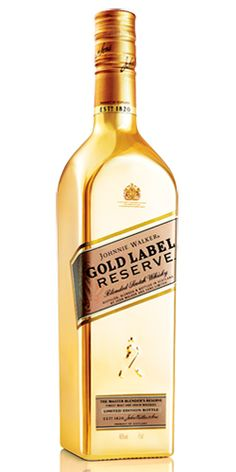 Johnnie Walker Scotch Gold Label Reserve Limited Edition (Liter Bottle) is in stock and for sale at Wine Chateau . WineChateau® for Fine Wines Good Whiskey, Scotch Whiskey, Bourbon Whiskey, Whiskey Trail, Gold Bottles, Liquor Bottles, Wine And Liquor, Wine And Beer, Booze Drink