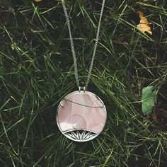Silver filigree necklace with willow creek jasper #kelseygrape #modernfiligree #kelseygrapejewelry