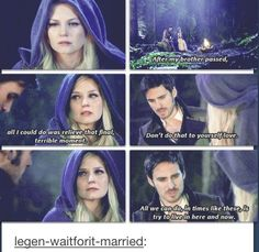 I LOVE this because in neverland Emma asked killian about his brother and he wouldn't but now he does...