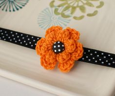 Halloween Baby Headband- my giveaway for the week of Sept 19 on my Facebook page http://www.facebook.com/mylittlepixies