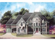 Eplans House Plan: Ornate and sophisticated detailing on this exterior enshroud a palatial interior. Defined by a generous layout and intricate ceiling design, this home is the ultimate in dignity and comfort. Overnight visit