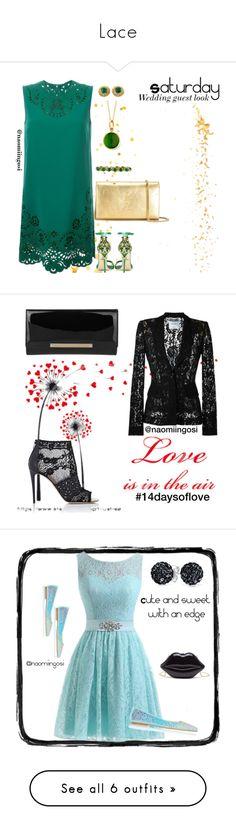 """Lace"" by naomiingosi ❤ liked on Polyvore featuring Dolce&Gabbana, BillyTheTree, Syna, Yves Saint Laurent, Valentino, Moschino, Jimmy Choo, ANNA BAIGUERA, Bling Jewelry and Kaisercraft"