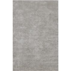 Candice Olson Hand-knotted Potenza Dove Gray Geometric Wool Rug (28.015 RUB) ❤ liked on Polyvore featuring home, rugs, grey, grey rug, wool area rugs, surya rugs, gray geometric rug and contemporary rugs