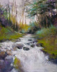 Spring Stream, pastel, 24 x 18 inches, ©2015 Barbara Benedetti Newton