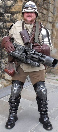 The very model of a modern steampunk general - Major Quicksilver Definitely inspiring and a jolly nice man Mode Steampunk, Steampunk Couture, Steampunk Cosplay, Steampunk Design, Victorian Steampunk, Steampunk Clothing, Steampunk Fashion, Steampunk Weapons, Men Cosplay