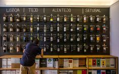 Five wine bars in Lisbon- Cinco vinaterías en Lisboa Five wine bars in Lisbon Beer Store, Liquor Store, Wine Bar Design, Craft Beer Shop, Wine Box Ceremony, Wine Wallpaper, Deco Restaurant, Wine Tasting Room, Wine Display