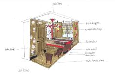 Sketch Bath & Book Bad & Boek Hotelroom Villa Pastorie Tilburg- Design Beers Brickworks