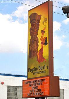Psycho Suzi's Marquee ~ Minneapolis, MN by Kristi Sauer