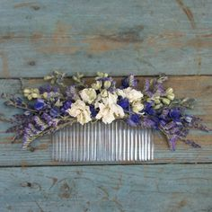 provence dried flower hair comb by the artisan dried flower company | notonthehighstreet.com