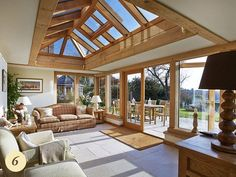 Oak lantern roofed garden room