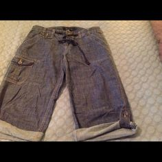 Calvin Klein denim shorts Long cargo denim shorts Calvin Klein Shorts Bermudas
