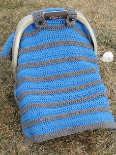 CROCHET PATTERN Simply Sweet Car Seat by HeathersCraftCorner @Erin B Steelers Football Grrrl I want one! Lol