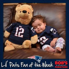Sweat dreams after a Patriots win #ZZZZZ #LilPatsFans #Patriots