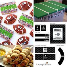 Super Bowl Food and Decor