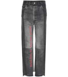 mytheresa.com - Embroidered cotton jeans - Luxury Fashion for Women / Designer clothing, shoes, bags