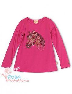 Pezzo Doro Langarmshirt Pferd - pink
