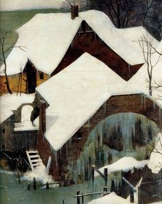 1565 Pieter Bruegel the Elder – Hunters in the Snow, Winter, Detail Home