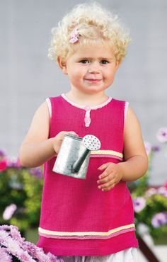 Strikkeopskrift   Strik pigetop med søde detaljer   Masser af strikke- og hækleopskrifter på det fineste børne- og babytøj