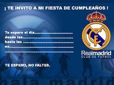 Resultado de imagen para invitaciones del real madrid para cumpleaños