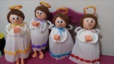 angelitos de papel crepé. Ariadna Cruz.