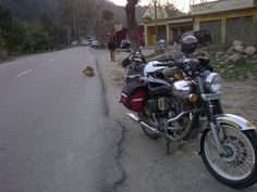 First stop after Manali is just outside Bilaspur for chai. Royal Enfield, Adventure, Adventure Movies, Adventure Books