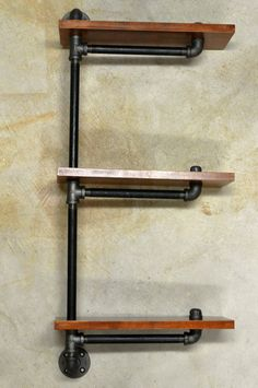 Adjustable Plumbing Pipe Shelving Unit by DownthePipeline on Etsy