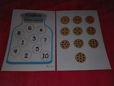 Trabajando en Educación Infantil: El juego del tarro de galletas