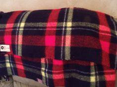 Vtg Wool Blanket Navy Blue Red Plaid by TeresasTreasuresEtc, $45.00