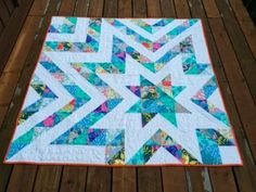 star quilt 60x60 squares and HSTs - beautiful colours - great scrap buster - good leaders/enders project??