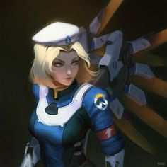Uprising Mercy by raikoart.deviantart.com on @DeviantArt - More at https://pinterest.com/supergirlsart #overwatch #fanart