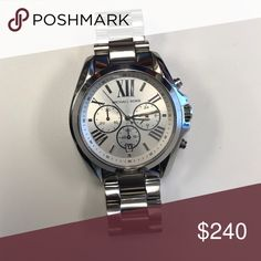 Micheal Korrs Lexington Silver Watch 2 month old watch in as good as new condition. Michael Kors Accessories Watches