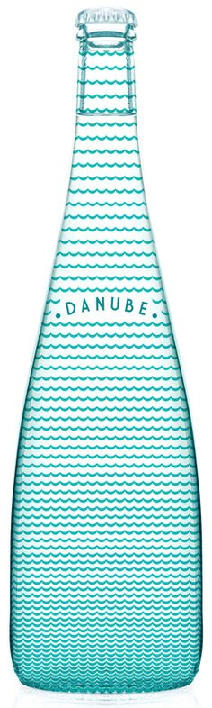Danube bottle design. || Weekly packaging inspiration for everyone! Introducing Moire Studios a thriving website and graphic design studio. Feel Free to Follow us @moirestudiosjkt to see more outstanding pins like this. Or visit our website www.moirestudiosjkt.com to know more about us. #packaging #graphicDesign ||