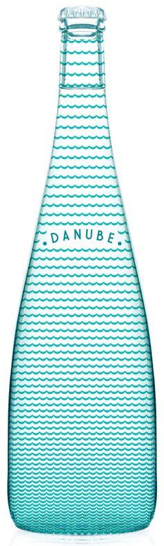 Danube bottle design. http://loquos.tumblr.com/post/36204922851/visualgraphic-danube