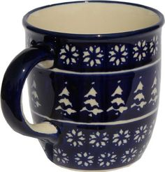 Polish Pottery Mug 12 Oz. From Zaklady Ceramiczne Boleslawiec