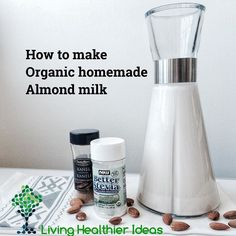 Are you lactose-intolerant are avoiding dairy products or just want to make organic almond milk? Watch here how to make it!  https://youtu.be/iFb1L8guPLQ  Find more #LivingHealthierIdeas and resources in the link in the BIO here http://ift.tt/1UjGfzf or visit: LivingHealthierIdeas.com
