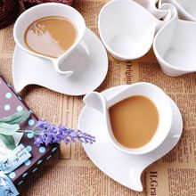 Fashion fancy bone china coffee cup set white ceramic coffee cup and saucer spoon(China (Mainland))