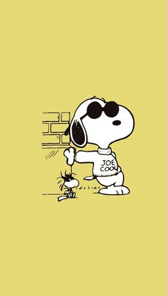Joe Cool Snoopy & Woodstock wearing sunglasses art