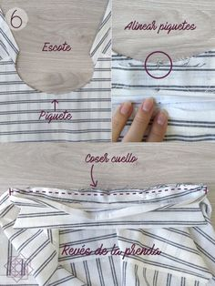 Como coser cuello camisero. tutorial de costura. Costura fácil paso a paso. costura para principiantes. técnicas de costura. aprender a coser. Sewing Basics, Sewing Hacks, Sewing Tutorials, Boys Sewing Patterns, Bead Sewing, Diy Shops, Design Blog, Sewing Techniques, Sewing Clothes