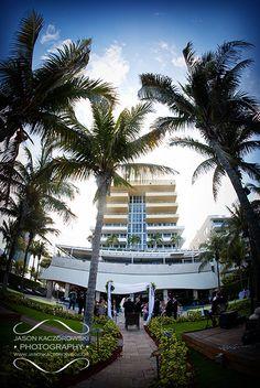Wedding photography at the luxurious Hilton Bentley Miami South Beach Hotel 101 Ocean Drive Miami Beach, Florida 33139