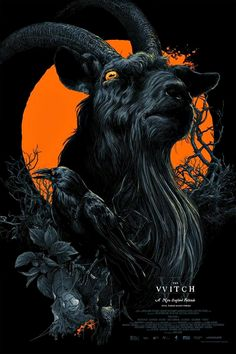 The Witch - Vance Kelly - Black Phillip Horror Movie Posters, Movie Poster Art, Horror Films, Arte Horror, Horror Art, The Witch Poster, The Witch Movie, Kelly's Heroes, Black Phillip