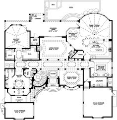 Big Houses PlansFlorida style house plans   square foot home  story  bedroom and