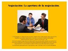 Negociación: apertura de la Negociación 1 Teamwork, Aperture, Tips